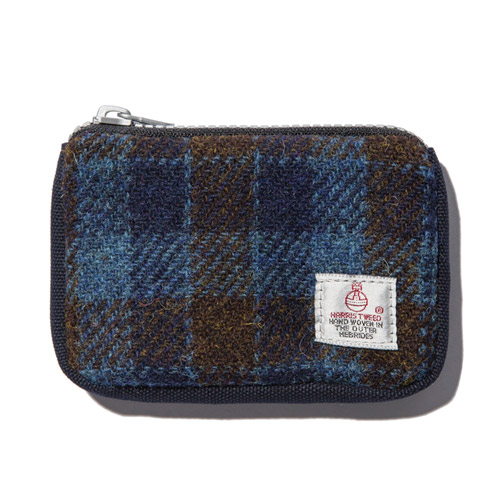 [디얼스] HARRIS TWEED CARD ZIP WALLET - BLUE