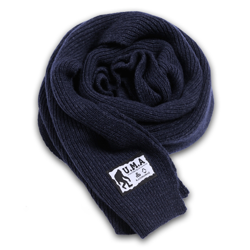 [블랙맘바] Wool knit muffler(NV_100% wool)